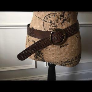 Brown leather J Crew Belt